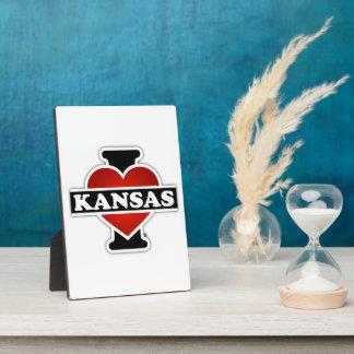 I Herz Kansas Fotoplatte