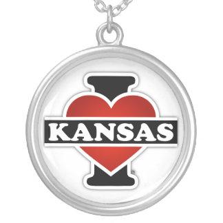 I Herz Kansas Halskette Mit Rundem Anhänger