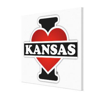 I Herz Kansas Leinwanddruck