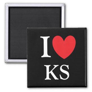 I Herz-Kansas-Magnet Quadratischer Magnet