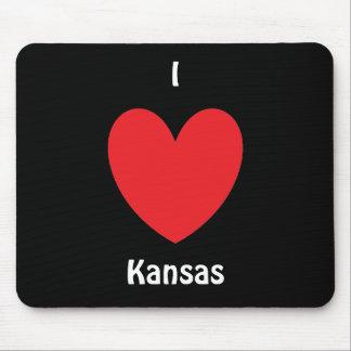 I Herz Kansas Mousepad