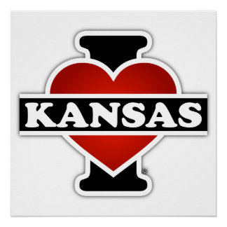 I Herz Kansas Perfektes Poster