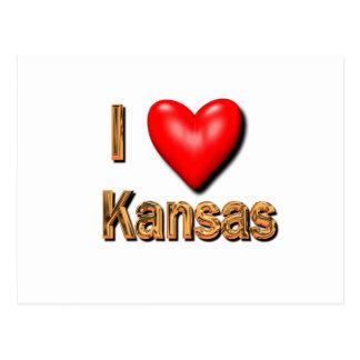 I Herz Kansas Postkarten