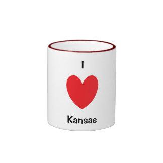 I Herz-Kansas-Tasse Ringer Tasse