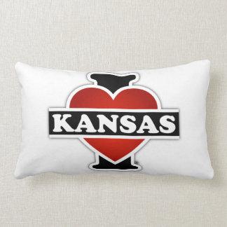 I Herz Kansas Zierkissen