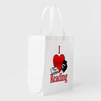 I Herz-Lesung Wiederverwendbare Einkaufstasche