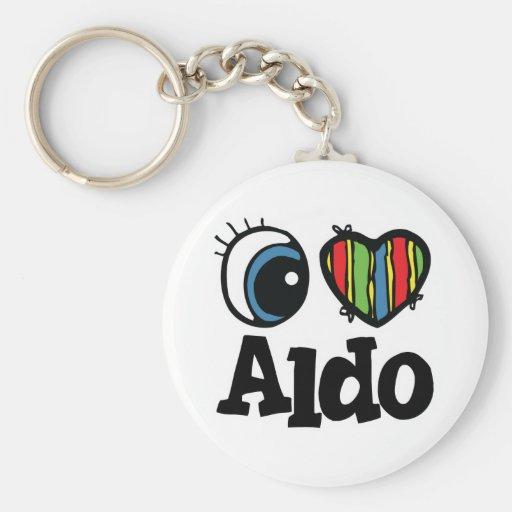 I Herz (Liebe) Aldo Standard Runder Schlüsselanhänger