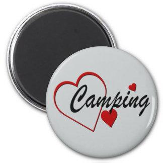 I Herz-Liebe-Campings-Magnet Runder Magnet 5,1 Cm
