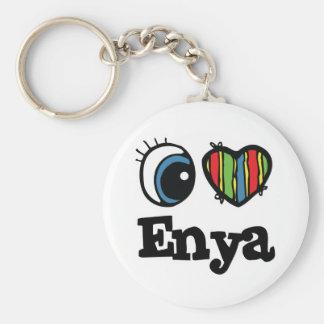 I Herz (Liebe) Enya Standard Runder Schlüsselanhänger