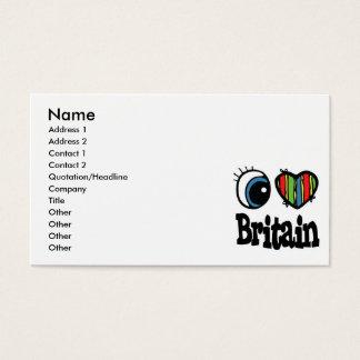 I Herz (Liebe) Großbritannien Visitenkarte