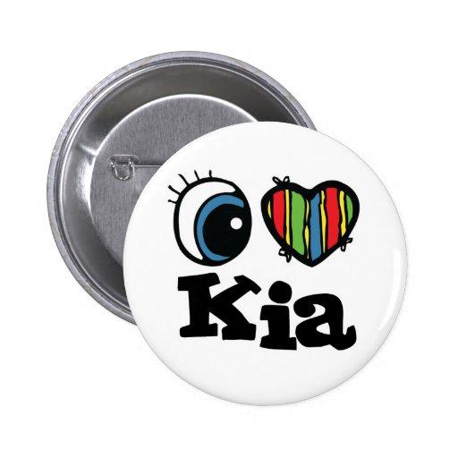 I Herz (Liebe) KIA Anstecknadelbuttons