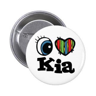 I Herz (Liebe) KIA Runder Button 5,7 Cm