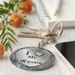 I Herz (Liebe) mein Westie Keychain Schlüsselband
