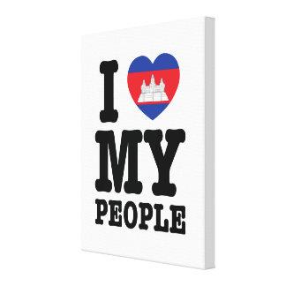 I Herz (Liebe) meine Khmer-Leute Leinwanddruck