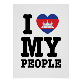 I Herz (Liebe) meine Khmer-Leute Poster