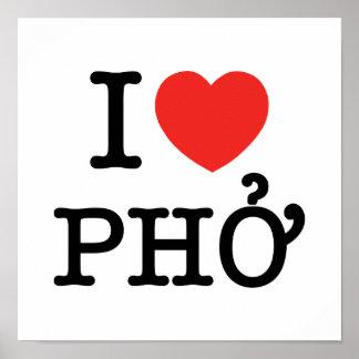 I Herz (Liebe) Pho Poster