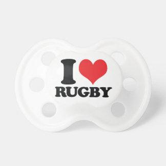 I Herz-/Liebe Rugby Schnuller