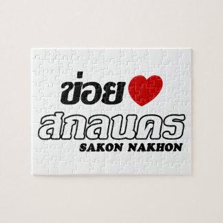 I Herz (Liebe) Sakon Nakhon, Isan, Thailand Puzzle