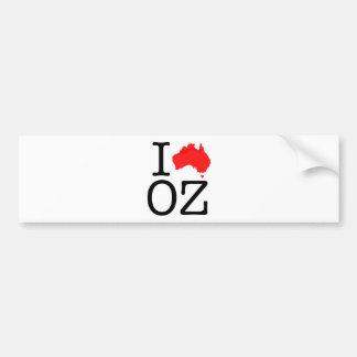 I Herz (Liebe) Unze Auto Sticker