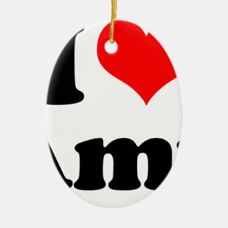 I Herz/LiebeAmy Keramik Ornament