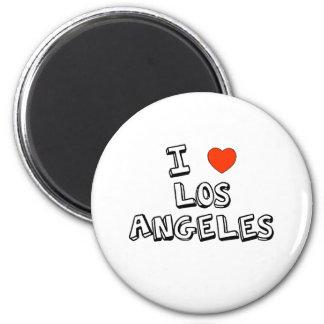 I Herz Los Angeles Runder Magnet 5,1 Cm