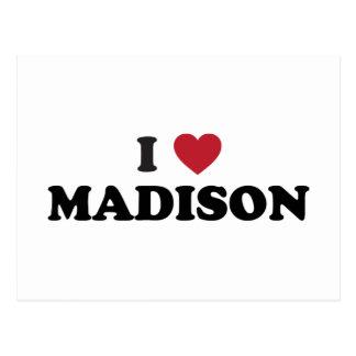 I Herz Madison Wisconsin Postkarte