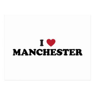 I Herz Manchester England Postkarte