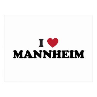 I Herz Mannheim Deutschland Postkarte