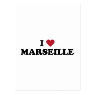 I Herz Marseille Frankreich Postkarte