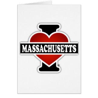 I Herz Massachusetts Karte