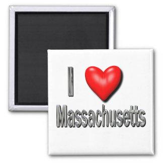 I Herz Massachusetts Magnets