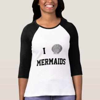 I Herz-Meerjungfrau-Baseball-T-Stück T-Shirt