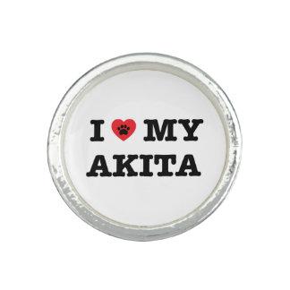 I Herz mein Akita-Ring Ring