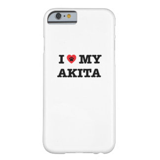 I Herz mein Akita-Telefon-Kasten Barely There iPhone 6 Hülle