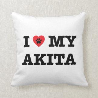 I Herz mein Akita-Wurfs-Kissen Kissen