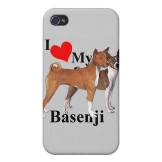 I Herz mein Basenji iPhone 4 Schutzhüllen