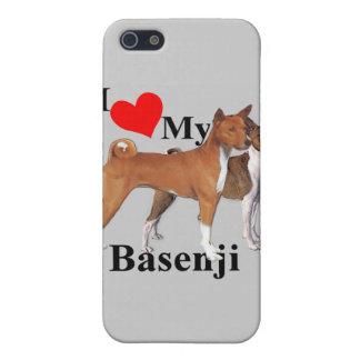 I Herz mein Basenji iPhone 5 Schutzhülle