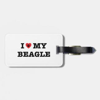 I Herz mein Beagle-Gepäck-Umbau Kofferanhänger