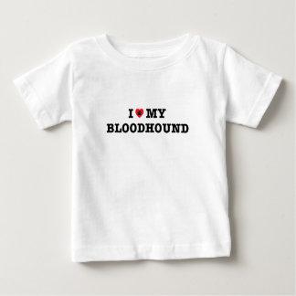 I Herz mein Bluthund-Baby-T - Shirt