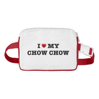 I Herz mein Chow-Chow-Fanny-Satz Gürteltasche