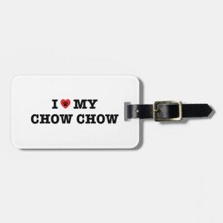 I Herz mein Chow-Chow-Gepäckanhänger Gepäckanhänger