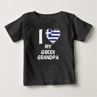 I Herz mein griechischer Großvater Baby T-shirt