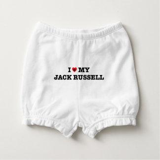 I Herz mein Jack Russell Baby-Windelhöschen