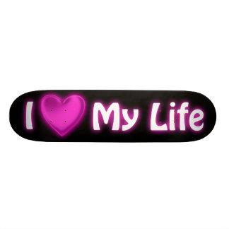 I Herz mein Leben-Schwarz-und Pink-Skateboard Skateboarddecks