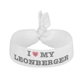 I Herz mein Leonberger Haargummi-Armband Haarschleife