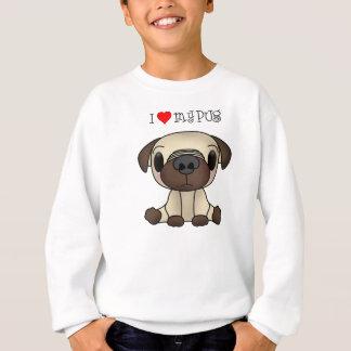 I Herz mein Mops Sweatshirt