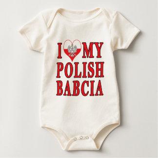 I Herz mein polnisches Babcia Baby Strampler