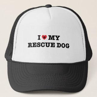 I Herz mein Rettungs-Hundefernlastfahrer-Hut Truckerkappe