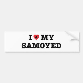 I Herz mein Samoyed-Autoaufkleber Autoaufkleber