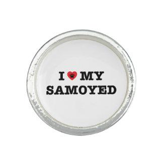 I Herz mein Samoyed-Ring Ring